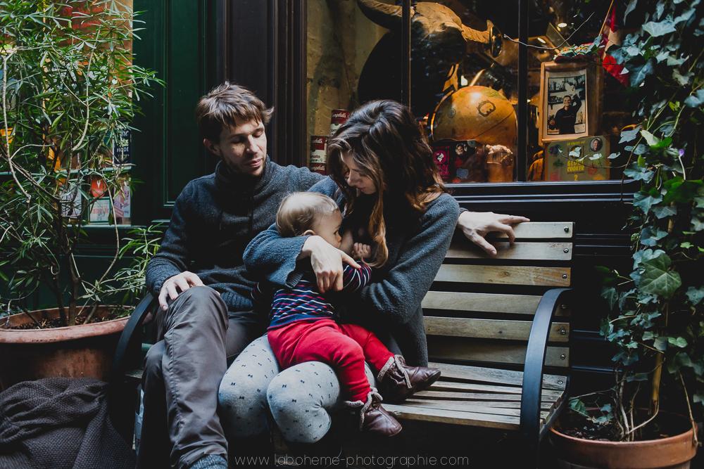 allaitement photo de famille