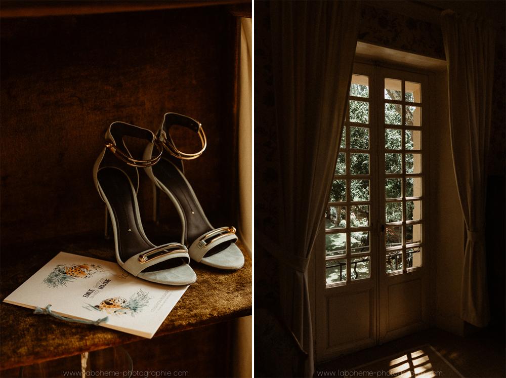 un mariage en Provence à la Bastide de Puget - La Bohème Photographieun mariage en Provence à la Bastide de Puget - La Bohème Photographie - Chaussure - Mariée