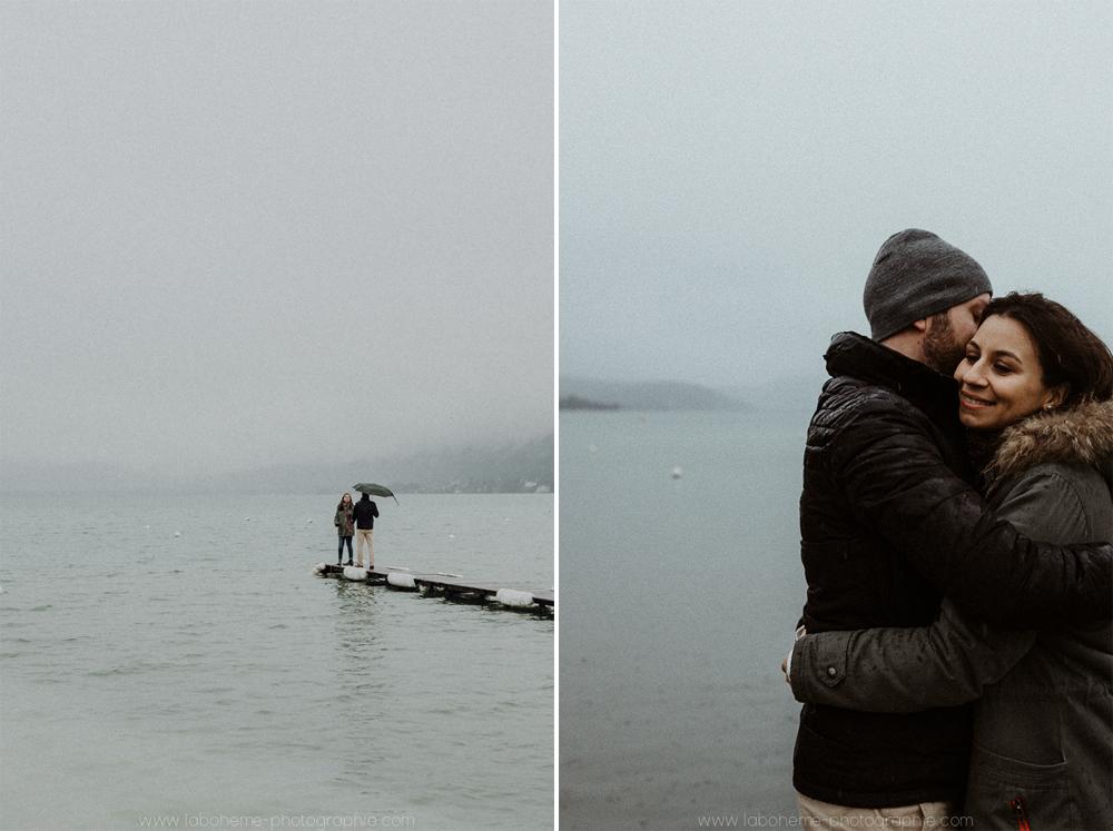 séance engagement au lac d'Annecy