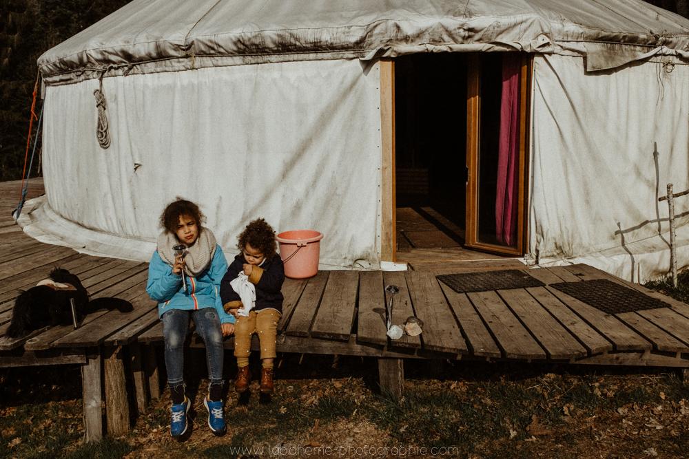 Week-end en famille dans les Bauges - La Bohème Photographie - Savoie - Yourthe