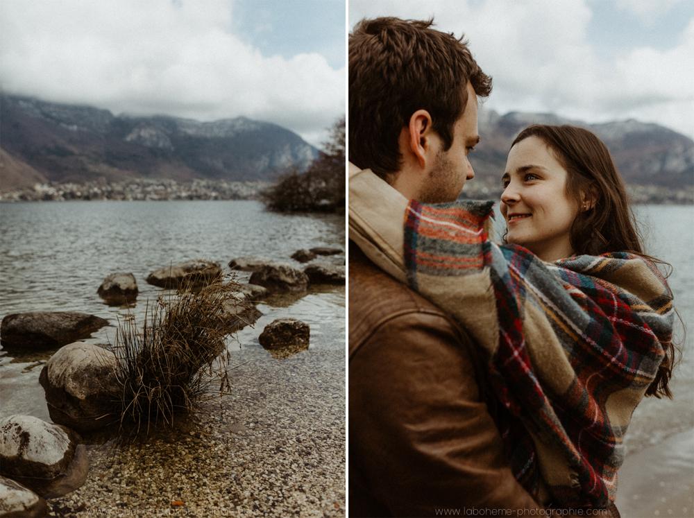 Séance couple - Haute Savoie - La Bohème Photographieseance couple lac d'annecy