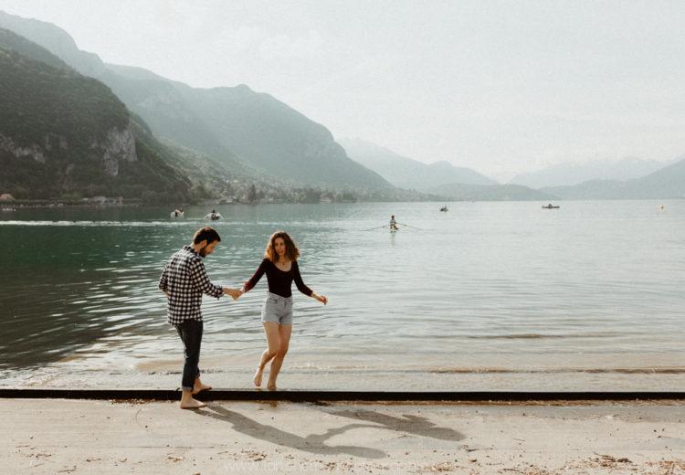 une seance engagement au lac d'Annecy