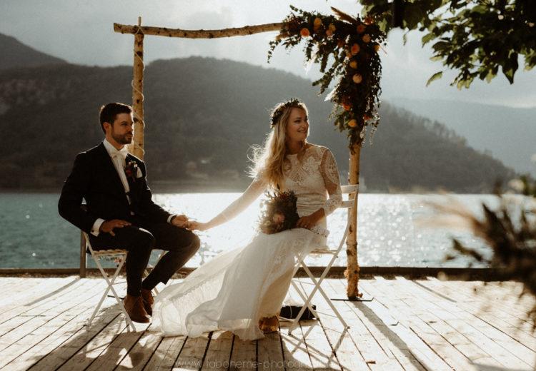 mariage boheme chic a talloires