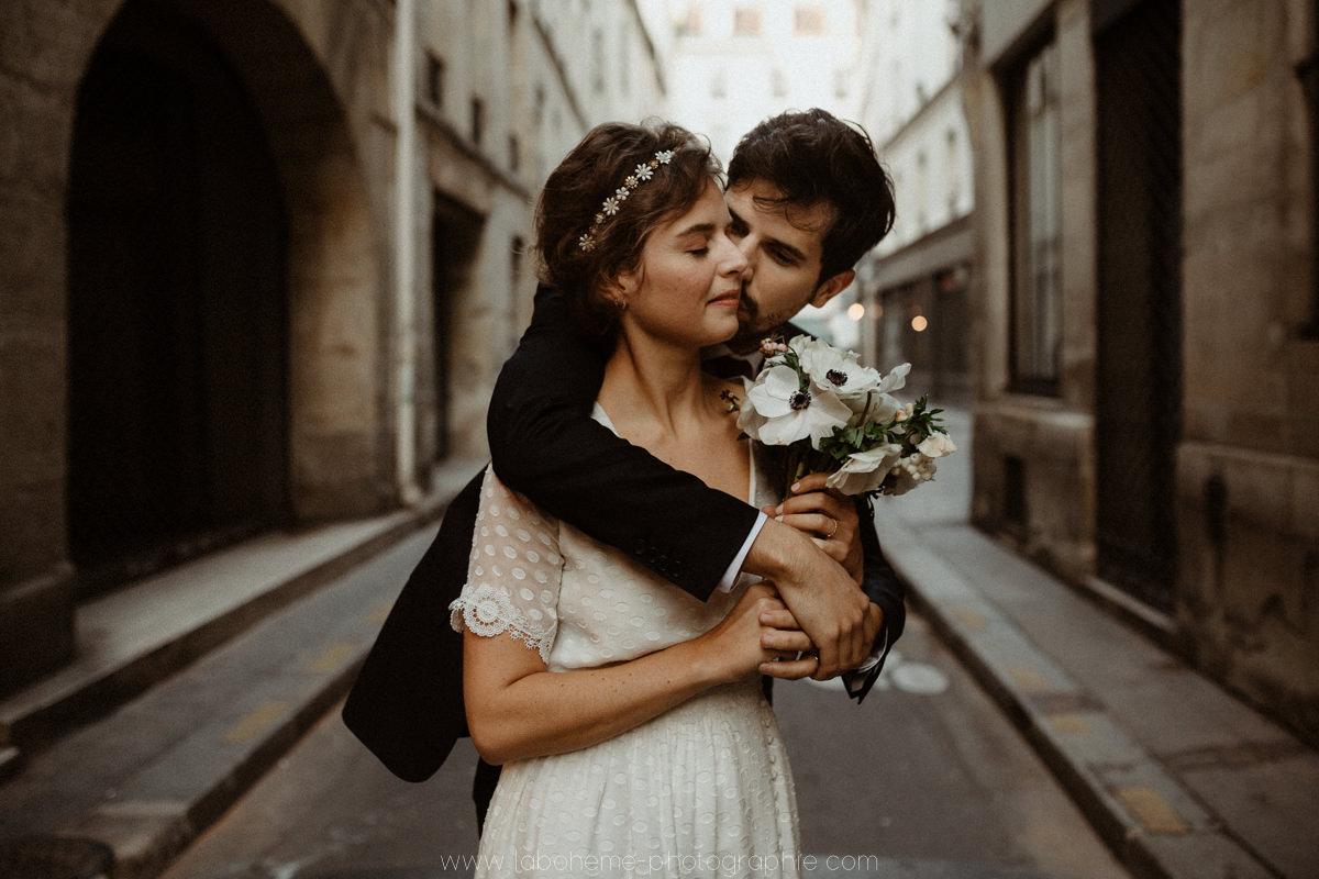 photographe mariage en hiver a la montagne haute savoie