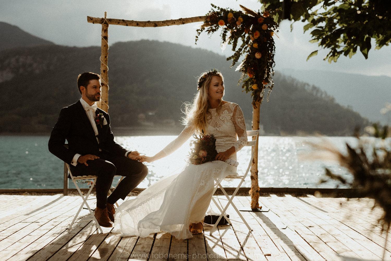photographe mariage boheme lac d'annecy