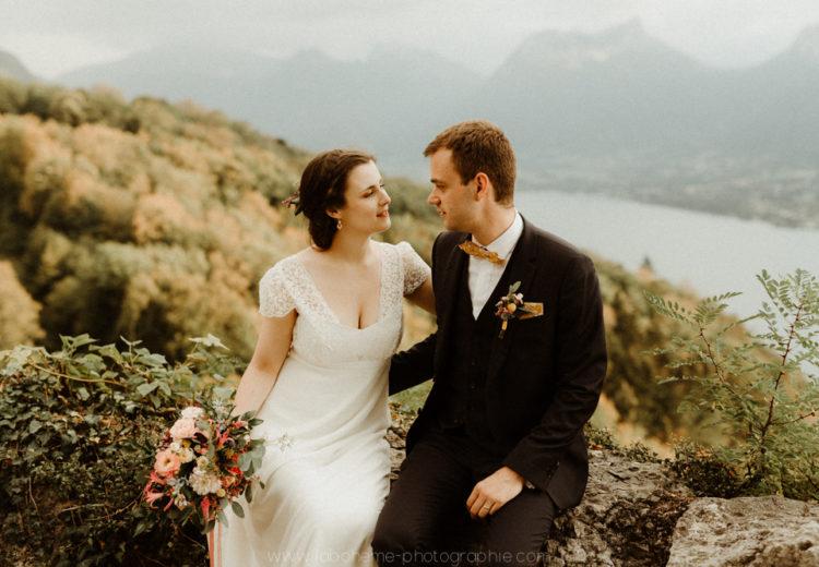 mariage devant le lac d'annecy