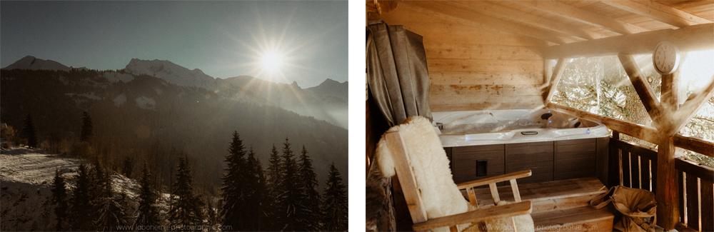 mariage d'hiver dans un chalet