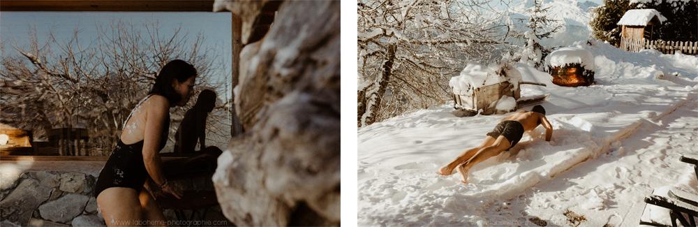 mariage a la neige