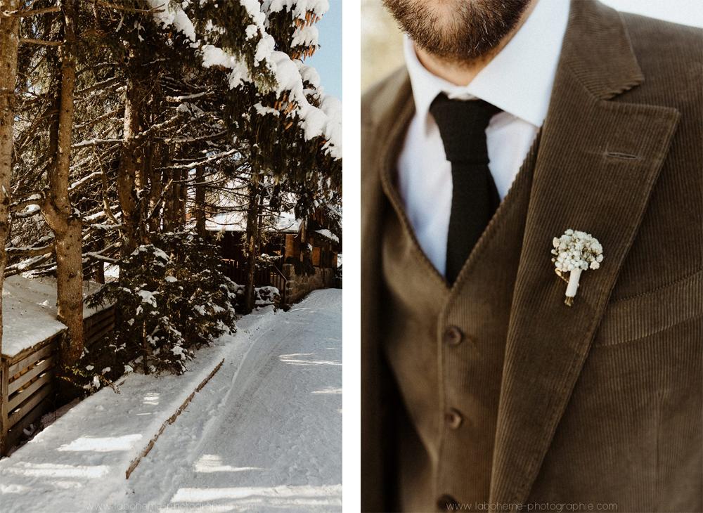 mariage d'hiver manigod