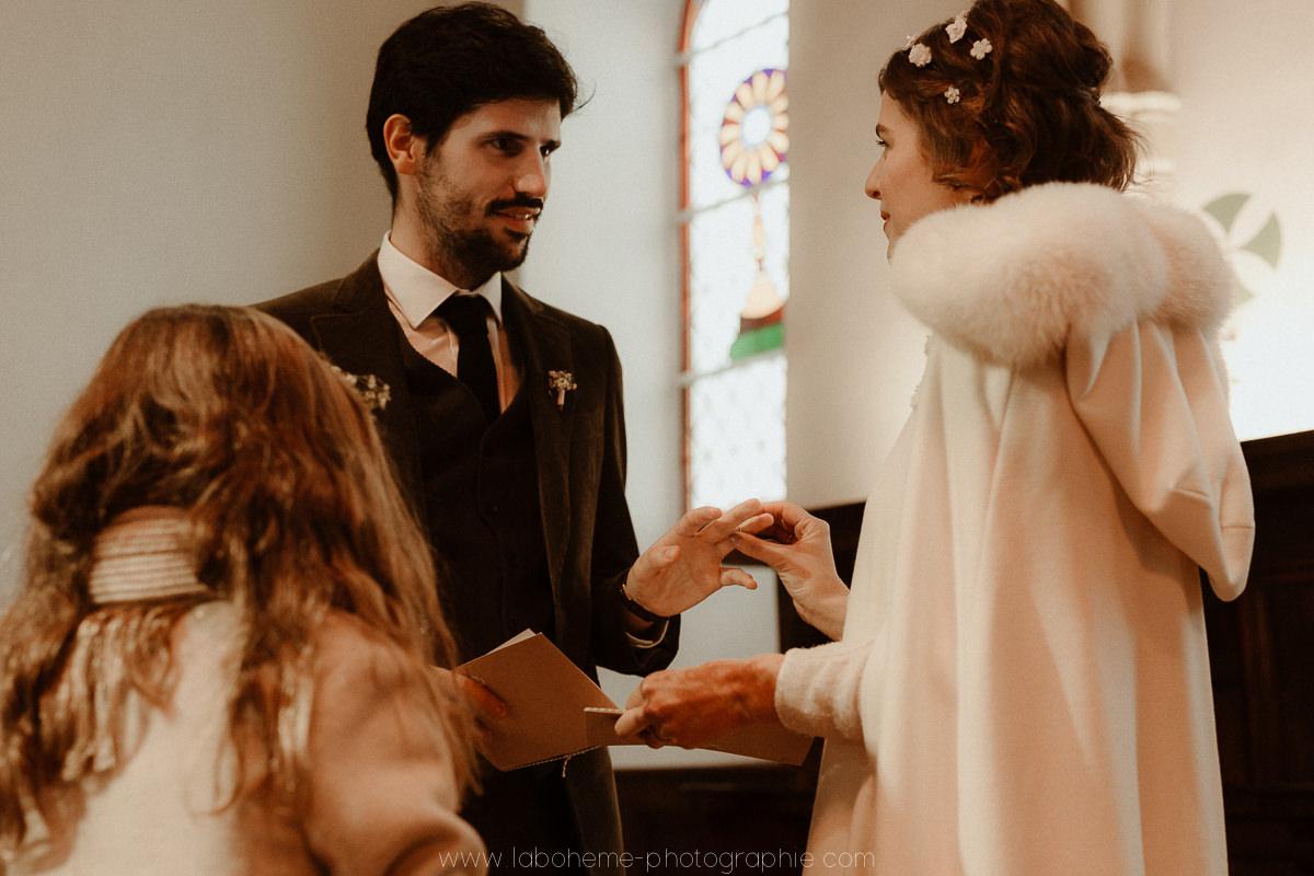 mariage hiver montagne
