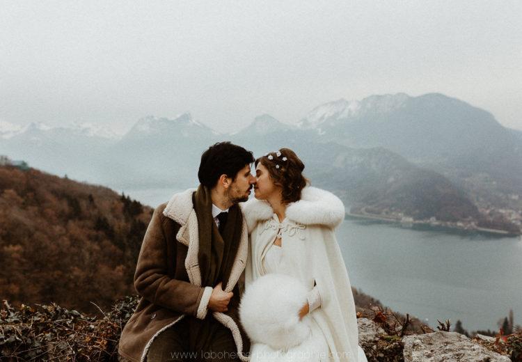 mariage talloires en hiver