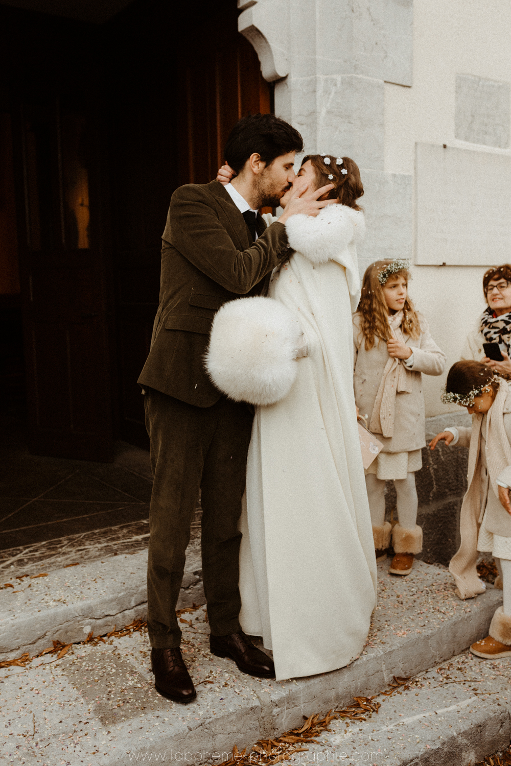 mariage intime d'hiver
