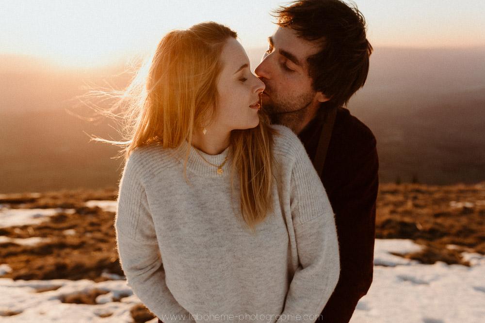 photographe couple montagne