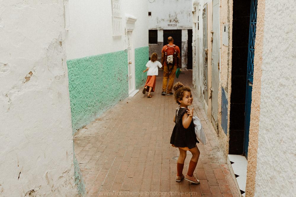 au maroc avec ses enfants