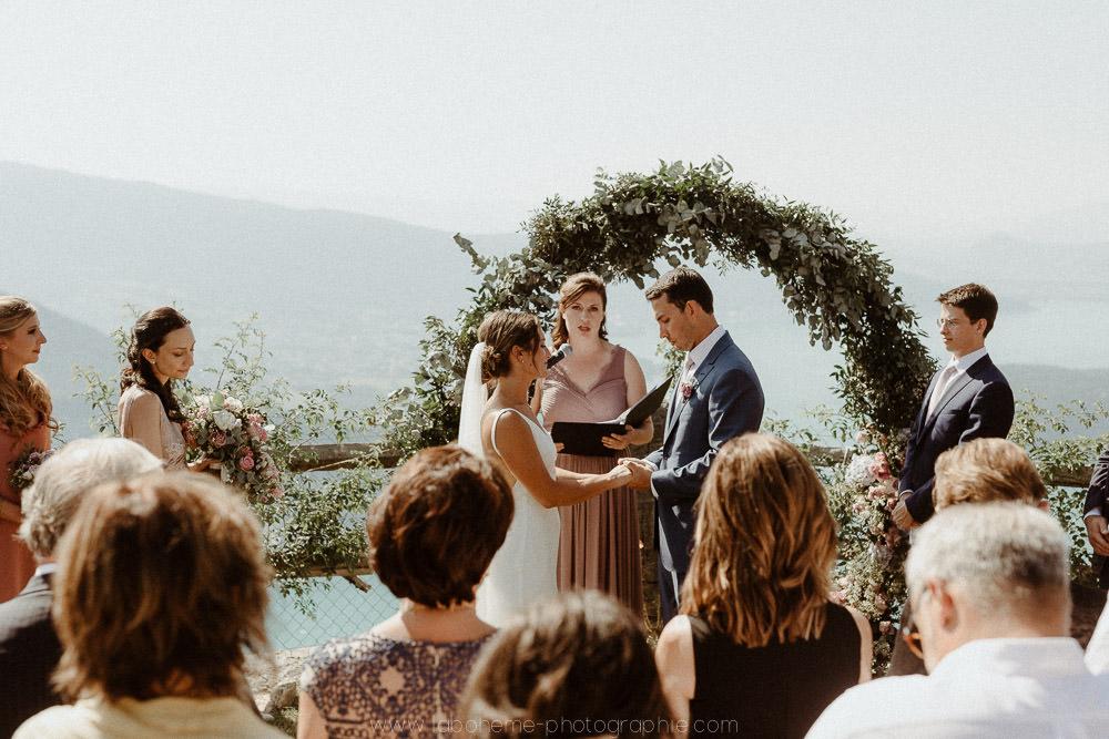 mariage chic au col de la forclaz