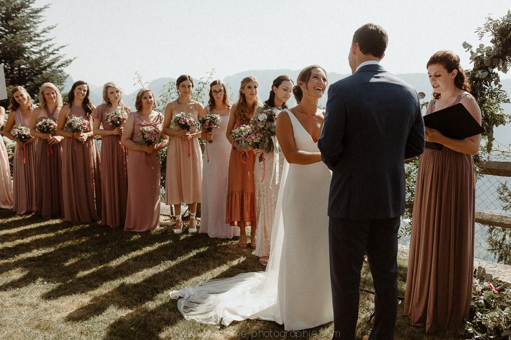 ceremonie de mariage avec vue