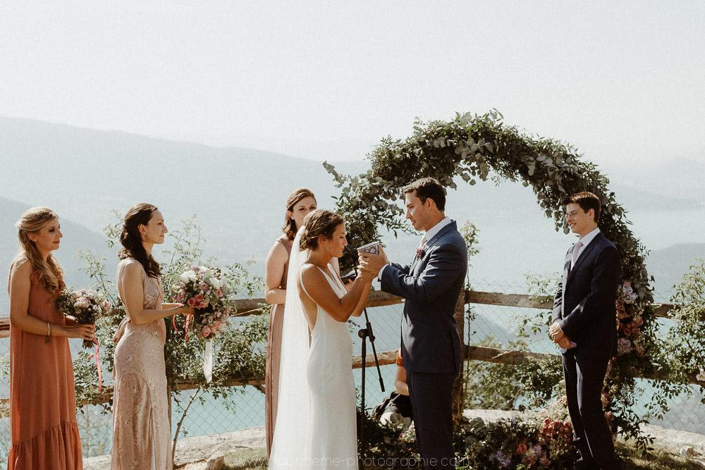 ceremonie laique au lac d'annecy