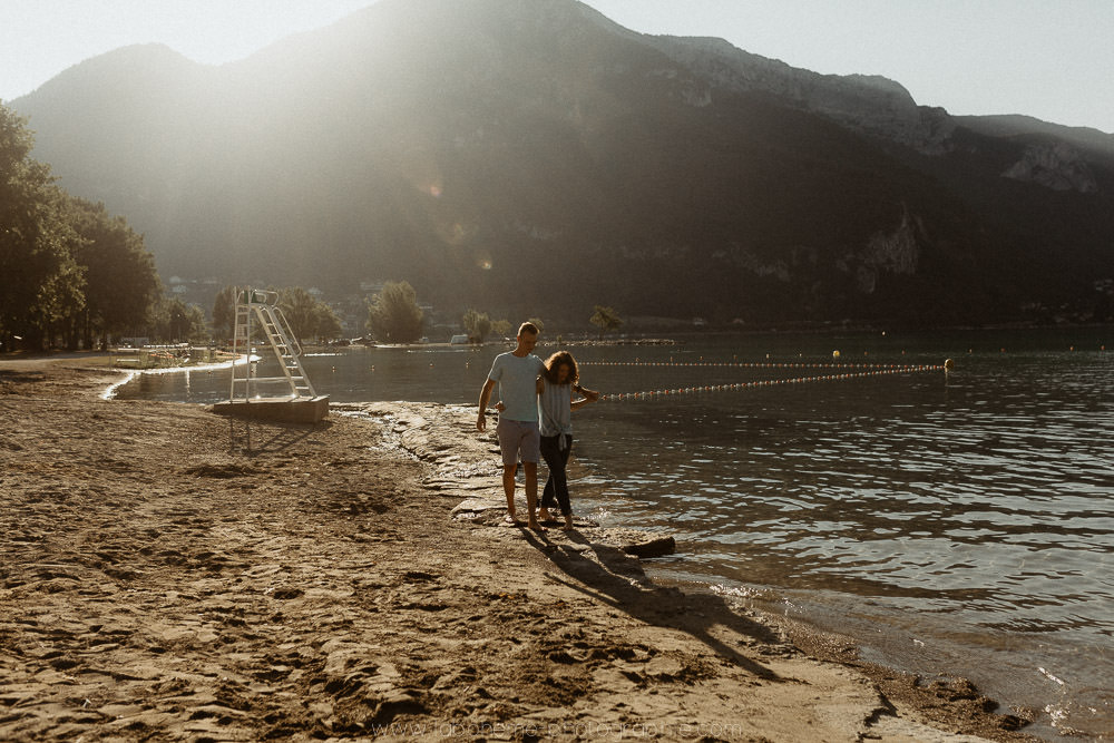 seance photo couple lac annecy