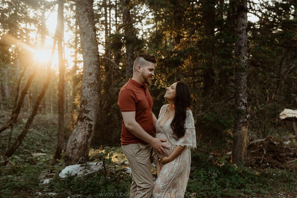 seance grossesse dans la foret du semnoz