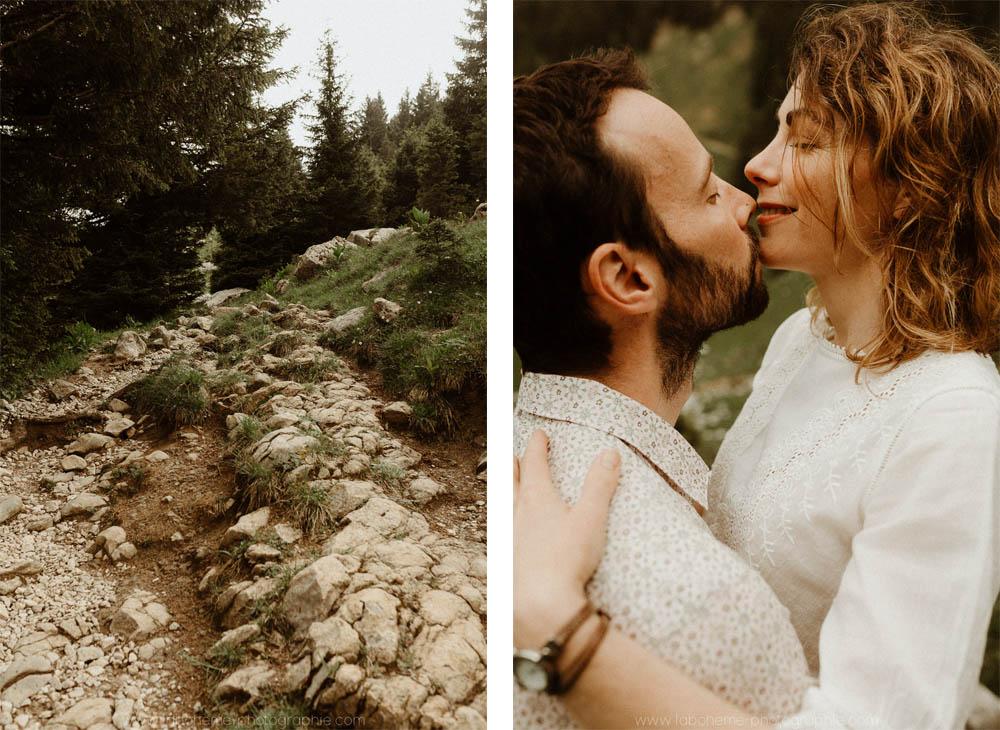 futurs maries a la montagne