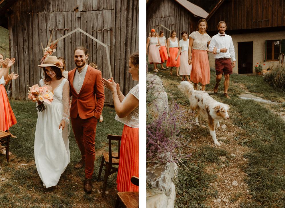 mariage folk en montagne