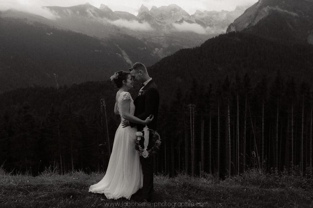 mariage decontracte a la montagne