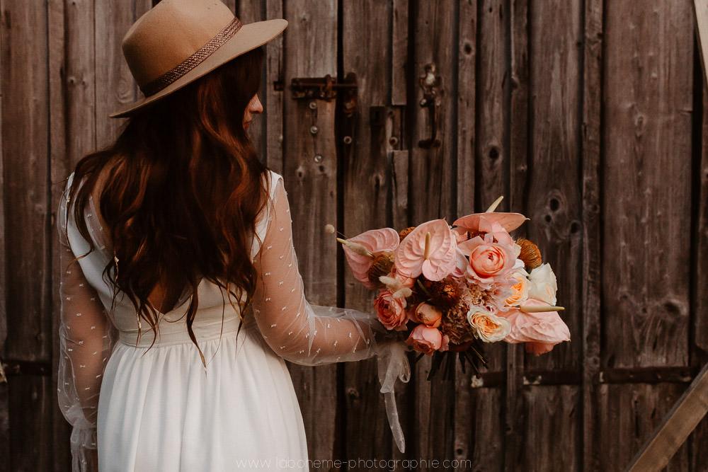 mariage en rose et terracotta
