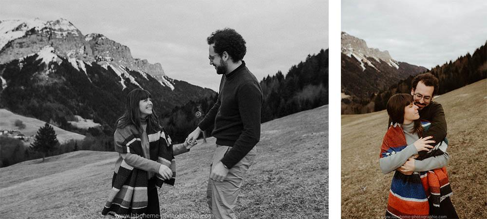 seance photo de couple montagne