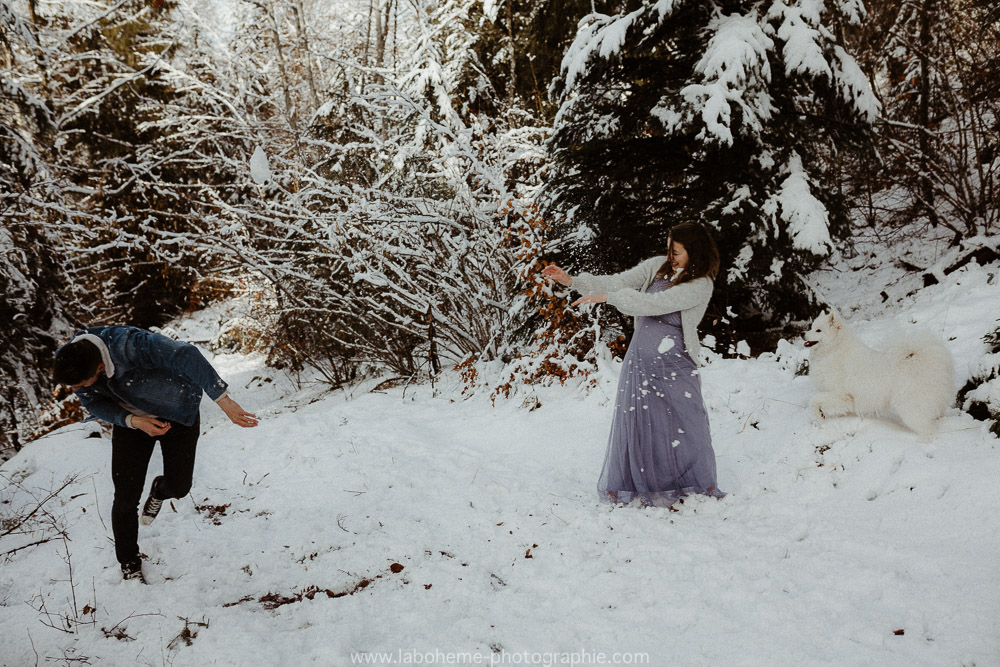 grossesse a la neige