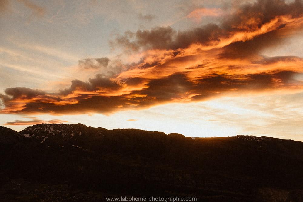coucher de soleil a la forclaz