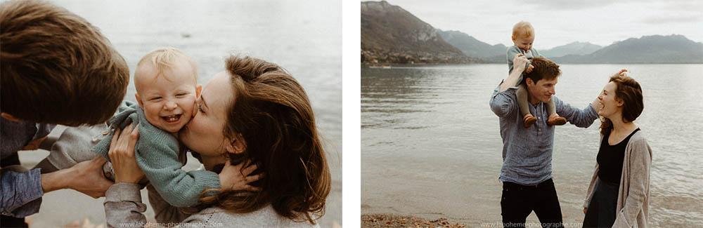 seance photo en famille lac d'Annecy