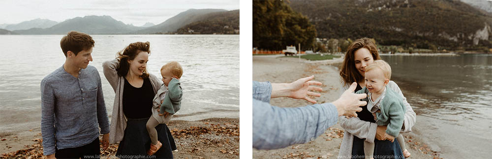 seance photo de famille lac d'Annecy
