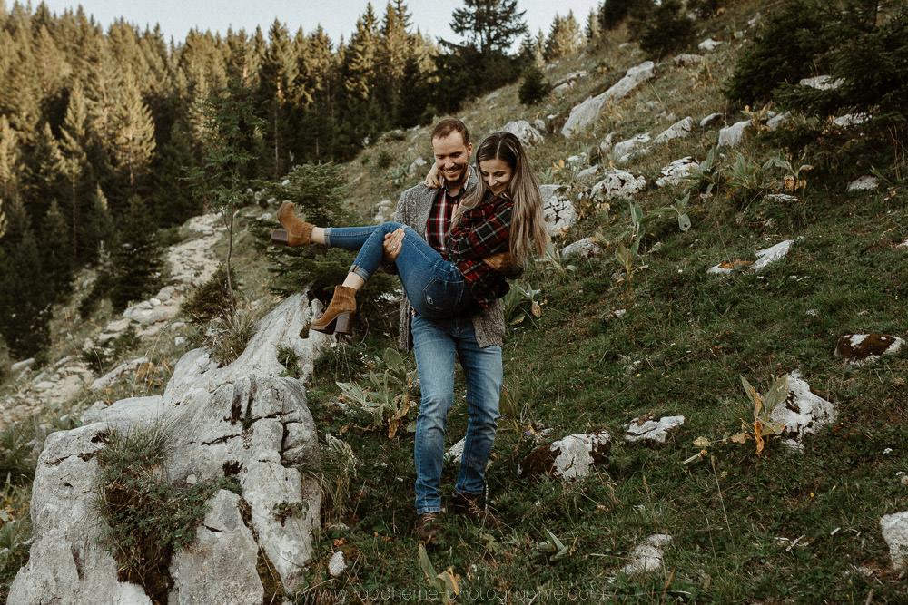 shooting engagement montagne