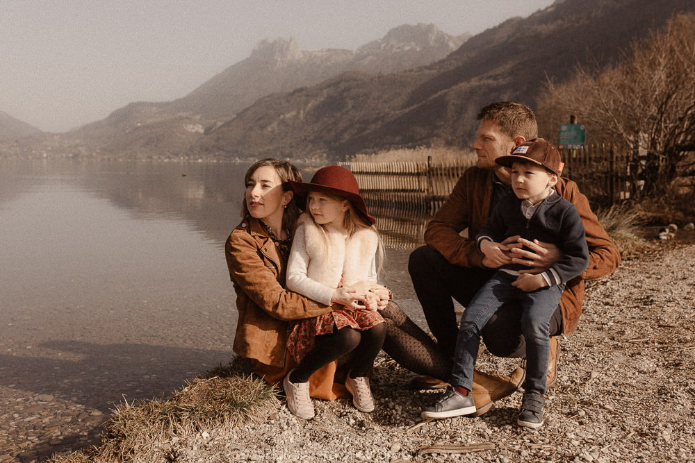 photo famille Lac d'Annecy