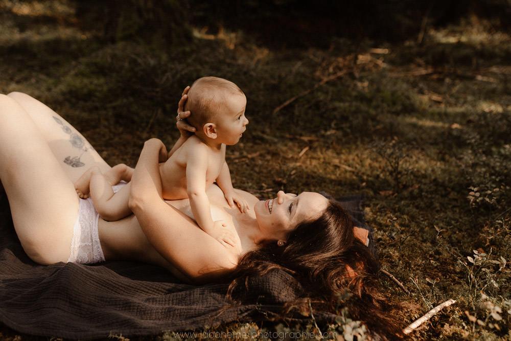 seance bebe et maman en nature