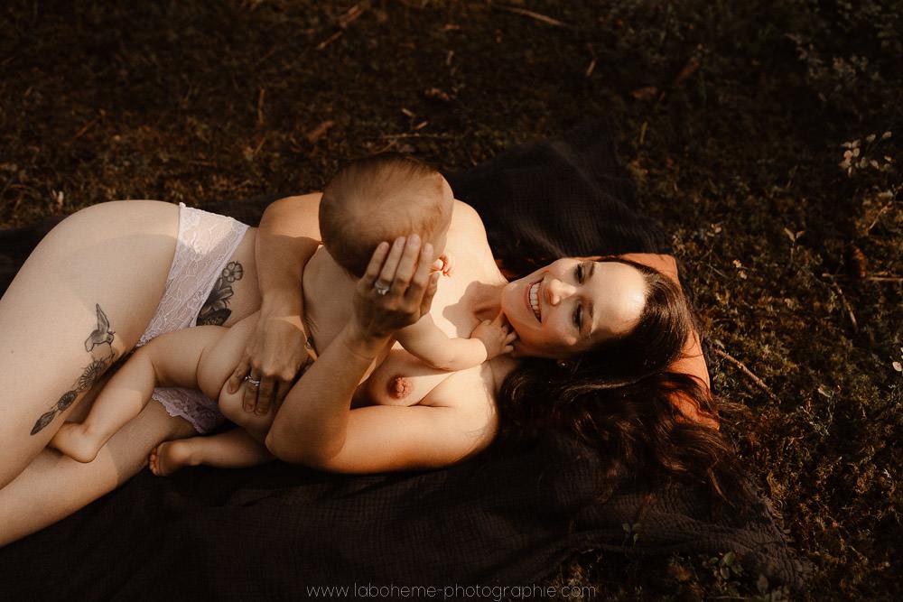 seance photo maman et bebe Haute Savoie
